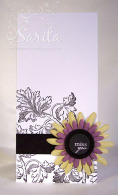 Floral stamp background, Paula Pascual sentiment stamp, flower