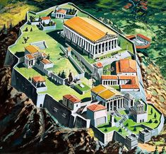 Acropolis and the Parthenon, Athens, ancient Greece Greek History, Ancient History, History Medieval, Medieval Times, European History, American History, Ancient Rome, Ancient Greece, Ancient Greek City