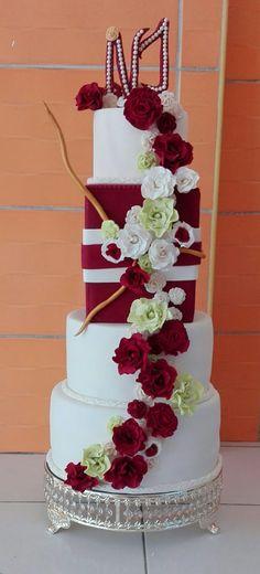 Torta de bodas vintage