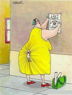 Gary Larson ~ The Far Side I don't believe that this is a Gary Larson cartoon. His trademark signature is absent. However, this is hilarious. I'm not laughing at obese people but it reminds me of some of the Walmart jokes. Comics Und Cartoons, Far Side Cartoons, Far Side Comics, Dog Cartoons, Fun Comics, The Far Side, Funny Shit, The Funny, Funny Stuff