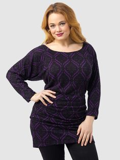 Toccara Sweater Tunic in Purple