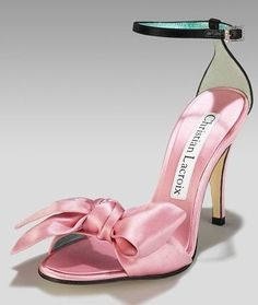 Christian Lacroix Blending of pink satin innocence with black strap sexiness