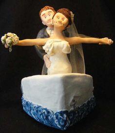 Titanic pose- wedding cake topper Wedding Cake Toppers, Wedding Cakes, Titanic Wedding, Miniature Dolls, Miniatures, Wedding Ideas, Poses, Sculpture, Disney Princess