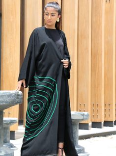 Exclusive online selection of women's modest wear including abayas, kaftans, travel wear, dresses and maternity outfits that spell elegance. Abaya Fashion, Modest Fashion, Fashion Clothes, Fashion Outfits, Modern Abaya, Modest Wear, Travel Dress, Crepe Fabric, Abayas