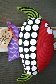 Here Fishy Fishy named MURRAY SALE SALE SALE by buttuglee Fabric Crafts, Paper Crafts, Fabric Fish, Crazy Toys, Handmade Stuffed Animals, Handmade Soft Toys, Sock Toys, Fabric Animals, Fish Crafts