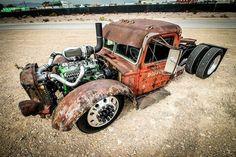 pictures of rat rod trucks Custom Rat Rods, Custom Trucks, Custom Cars, Cool Trucks, Big Trucks, Cool Cars, Semi Trucks, Pickup Trucks, Mack Trucks