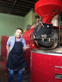 """""""Brian Turko, master roaster  about to guide us through a gold espresso tasting!"""" Image by Richard Wolak ."""