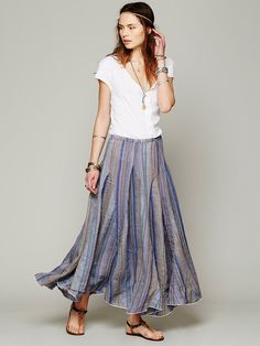 CP Shades Blue Dream Striped Maxi