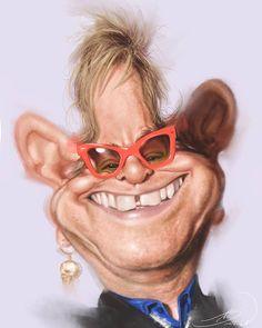 Elton John por Rivorio Mok