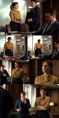 """Season 2 Episode 1 - """"For Those Who Think Young"""" After the shock she received at the end of Season 1 (spoilers going forward, so you're warned), we see an Mad Men Peggy, Peggy Olson, Season 2 Episode 1, Men Tv, Elisabeth Moss, Mad Men Fashion, Madison Avenue, Some Girls, Costume Design"""