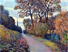 bofransson: ALTMANN Alexandre, 1885-1934  Chemin en automne, le clocher de Meudon