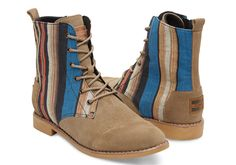 Taupe Suede Woven Women's Alpa Boots | TOMS