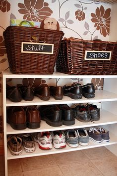 This would be a solution to those dastardly shoe piles in the front hallway.  Since three-fourths of us are Asian, I'm fighting a losing battle.