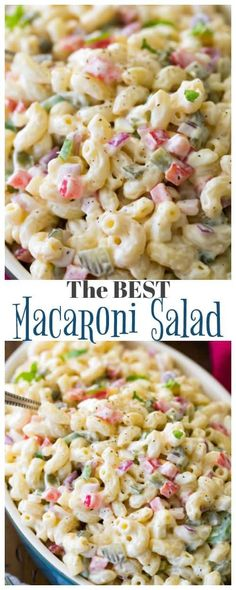 How to make the very BEST Macaroni Salad! We LOVE this recipe and it is always a hit! One of my most requested recipes!   #macaronisalad #potluckfood #recipe #salad #picnicfood #partyfood via @sugarspunrun