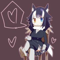 Kemono friends wolf Anime Wolf, Anime Neko, Cute Anime Character, Character Art, Werewolf Girl, Wolf Drawings, Kemono Friends, Gray Wolf, Anime Animals