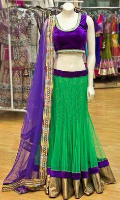 half saree or lehenga