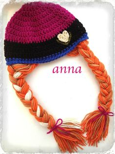 anna and elsa hat pattern - Google Search Frozen Crochet Hat 5559928cf8bc