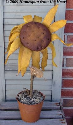 Primitive Mouse on Sunflower pattern by CindysHomespun on Etsy, $5.50
