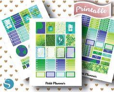 Printable Planner // Erin Condren Stickers // Monthly Kit // Set // Planner Love // Planner Junkie // PNG // PDF // Cricut // Silhouette Studio // JPG
