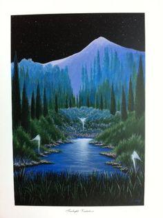 Twilight Visitation Lithograph Print by Artist of Hope, Steven Lavaggi Lavaggi,http://www.amazon.com/dp/B00AFFDQW4/ref=cm_sw_r_pi_dp_pVwEsb0WV9KY6AJ0