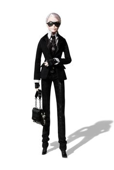 This might be the coolest Barbie ever. Karl Lagerfeld Barbie Doll - limited edition.