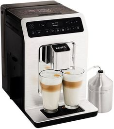 KRUPS Deluxe One-Touch Super Automatic EspressoPREMIUM CAFÉ-QUALITY COFFEE: The 35 lbs. of accuracy treated steel weight guarantees ideal espresso packing for perfect smell extraction and rich and smooth crema. Espresso Drinks, Best Espresso, Coffee Drinks, Barista, Arabica, Cappuccino Maker, Cappuccino Coffee, Krups Coffee Maker, Espresso Machine Reviews