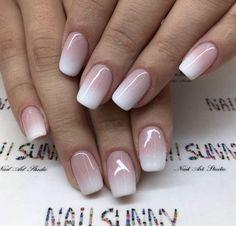 Bridal Nails French, French Tip Nails, Nail French, Ombre French Tips, French Acrylic Nails, French Manicures, Nagel Blog, Wedding Nails Design, Wedding Designs