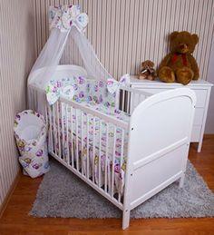 Komplettangebot Kombi-Kinderbett weiß + Zubehör Babybett Kinderbett Juniorbett weiß 140x70 Bettwäsche Bettset komplett 22-tlg. Eule weiß Chiffonhimmel von zieba, http://www.amazon.de/dp/B00KP80SY0/ref=cm_sw_r_pi_dp_NUALtb1E6H249