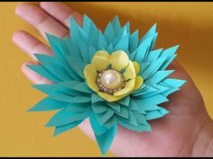 Easy origami how to make no glue paper flowers diy project ideas easy paper flowers add a touch of personal elements in your this beautiful paper flower is inspired from the water lily here you can learn how to make a mightylinksfo