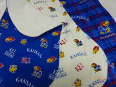 Baby Burp Cloths  Set of 3  Kansas by JulieButlerCreations on Etsy, $15.00