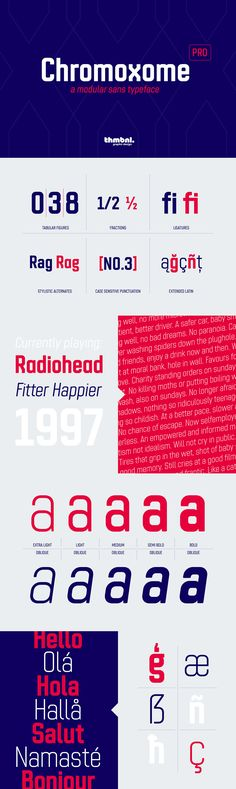 Chromoxome Pro - This is the completely redesigned version of the modular all caps typeface Chromoxome. Nex...