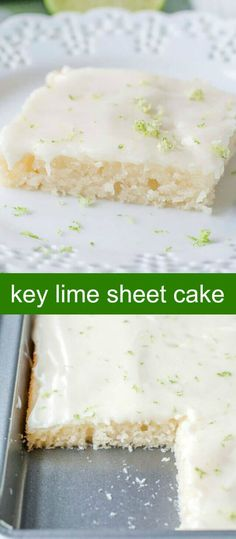 Key Lime Sheet Cake {A Fun and Easy Summer Sheet Cake} sheet cake/key lime/cake Key Lime Sheet Cake is a citrus take on buttermilk sheet cake, with a light frosting with a hint of lime, this cake is great for summertime gatherings. via @foodlovinfamily
