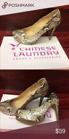 Python heels Sexy platform python heels Chinese Laundry Shoes Heels