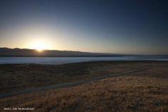 The sunrise over Soda Lake on the Carrizo Plains in Central California