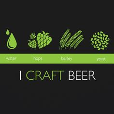 This is definitely a homebrewer's t-shirt. I Craft Beer…it says it all…and then it says a little more by listing the main four ingredients when brewing beer (those being water, hops, barley and good ole yeast. Cheers to yeast…and yeastiness (is that a word?).