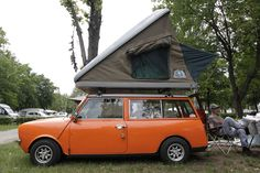This Classic Mini came fully kitted out to the International Mini Meeting, 2012.