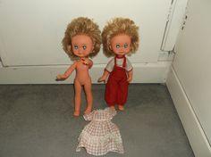 "UNUSUAL VINTAGE KEWPIE DOLLS made in ITALY FIBA HB 11"" DRESSED! TWINS?   eBay Kewpie, Vintage Dolls, Twins, Italy, Disney Princess, Disney Characters, How To Make, Dresses, Fashion"