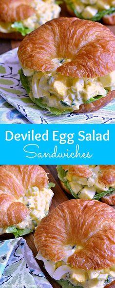 Easy Sandwich Recipes, Egg Recipes, Lunch Recipes, Salad Recipes, Vegetarian Recipes, Cooking Recipes, Sandwich Ideas, Sandwich Bar, Sandwich Spread