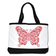 aa05607bd8 Shoulder Bag Purse (2-Sided) Black Stylized Lacy Butterfly Bingo Bag