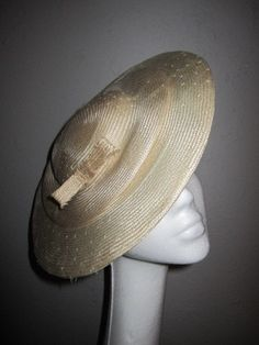 SALE Natural Aged Parasisal Straw Platter Hat by tetesurleau, $75.00