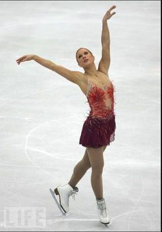 Joannie Rochette, Red Figure Skating / Ice Skating dress inspiration for Sk8 Gr8 Designs.