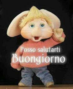Italian Greetings, Italian Memes, Italian Language, Good Morning Good Night, Animals And Pets, Crochet Hats, Teddy Bear, Walt Disney, Dolce