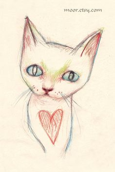 CAT4x6 Print by Moor on Etsy, $6.00