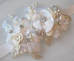 Bridal Headpiece Headband Wedding Head Piece by TheRedMagnolia
