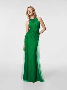 Photo green cocktail dress (62059)