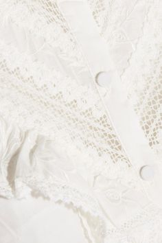 Zimmermann - Tulsui Lace-trimmed Ruffled Embroidered Cotton Mini Dress - Ivory - 1