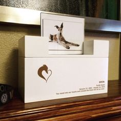 Melissa spiering a ajouté une photo de son achat Doggies, Dogs And Puppies, Urban Decor, Pet Urns, Pet Memorials, Laser Engraving, Contemporary Style, Your Pet, Photos