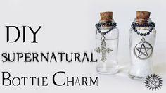 DIY: SUPERNATURAL BOTTLE CHARM | Ideias Personalizadas - DIY - Salt anda burn and holy water