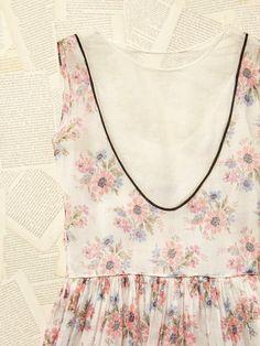 Vintage 1950s Sheer Floral Dress