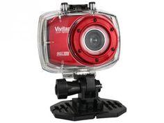 Câmera Filmadora Esportiva Full HD 1080p Vivitar - DVR787HD 12.1MP Conexão Mini USB c/ Caixa Estanque